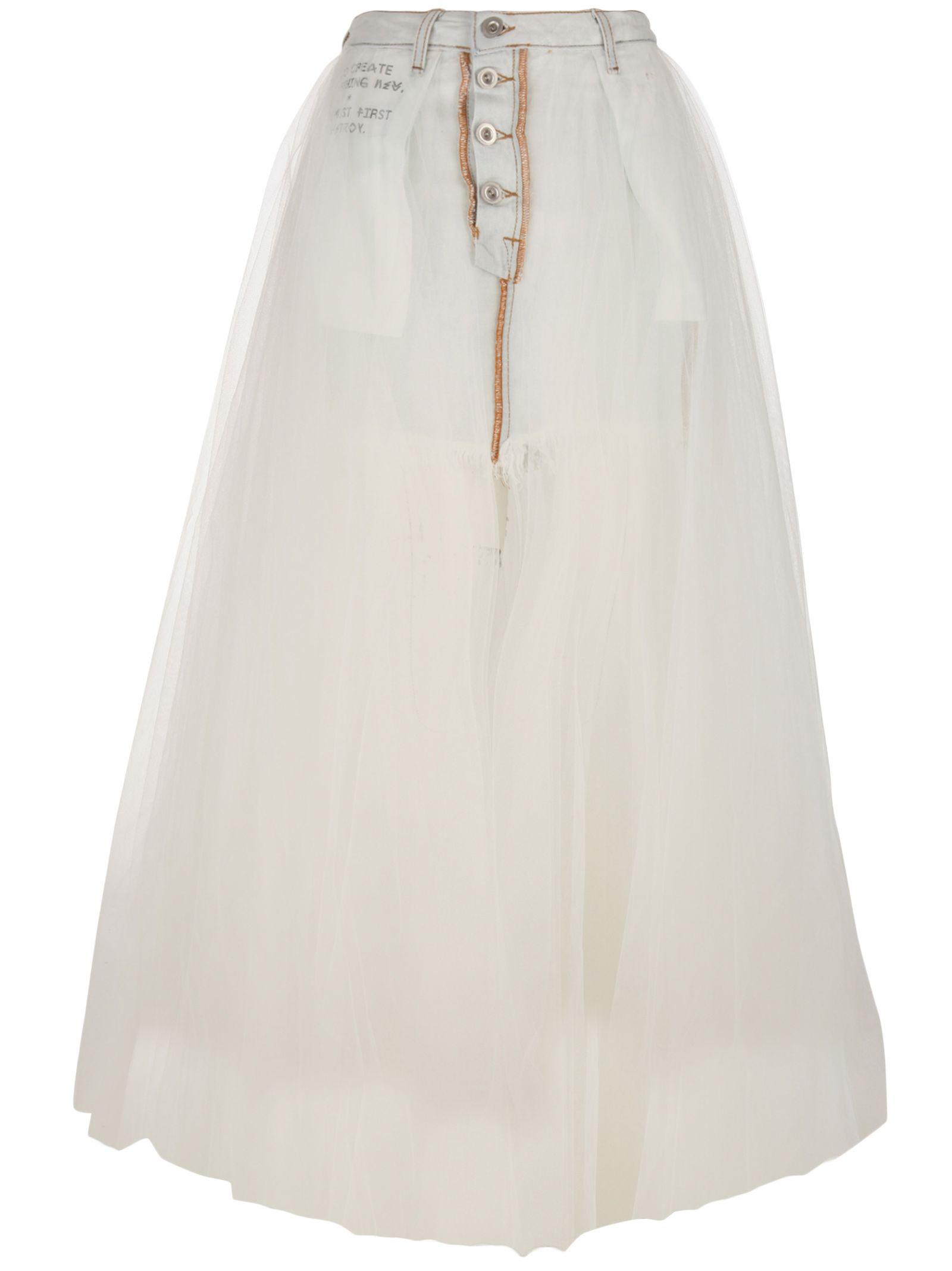 162f2de370 Ben Taverniti Unravel Project Skirt In White