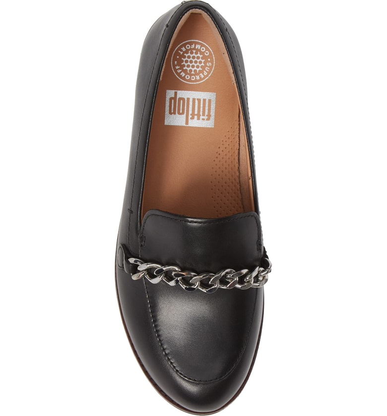 3b24a4d63ff8af Fitflop Petrina Chain Loafer In Black Leather