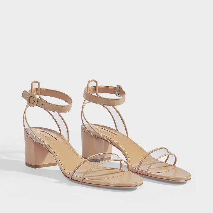 f8ca45c60ff 50Mm Minimalist Metallic Leather Sandals in Neutrals