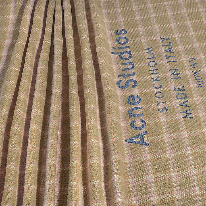 4fe5f740994 Acne Studios | Cassiar Check Scarf In Beige And Pink Wool | ModeSens