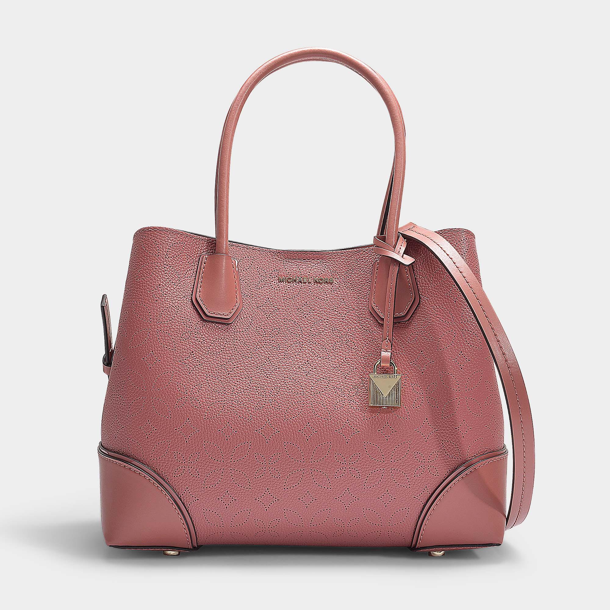 4fa5ccf81c17b3 Michael Michael Kors | Mercer Gallery Medium Center Zip Tote Bag In Rose  Grained Calfskin