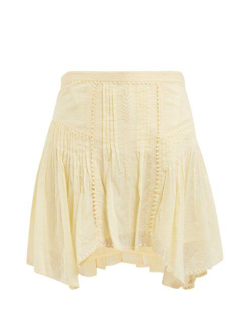 4254b83354 Etoile Isabel Marant Isabel Marant ÉToile - Akala Lace Trimmed Cotton Mini  Skirt - Womens -
