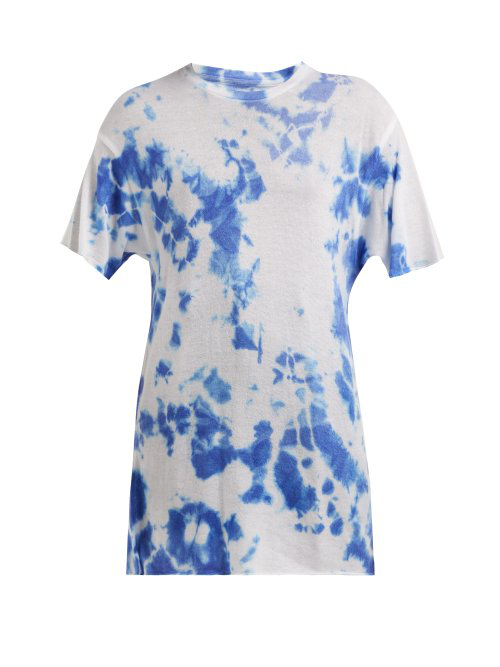 8f1320dc The Elder Statesman Tie-Dye Cashmere And Silk-Blend T-Shirt In White ...