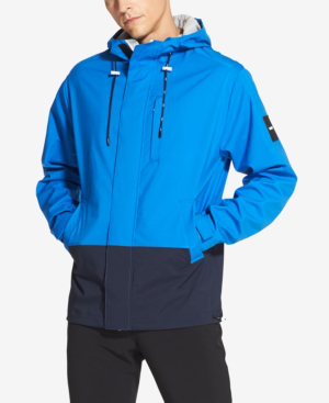 e17c5e45 Dkny Men's Colorblocked Hooded Jacket In Imperial Blue   ModeSens
