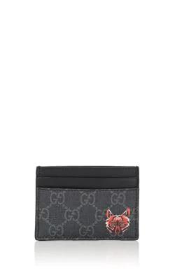 a379dce6e3cead Gucci Coated Canvas Card Case - Black | ModeSens