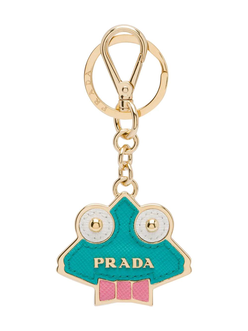 90e867f074 Prada Saffiano Leather Keychain Trick - Green