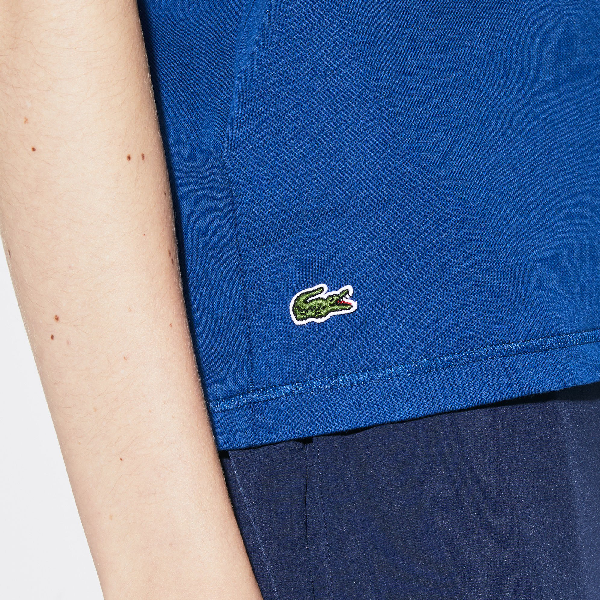 a9fb514b58 Women's Sport Oversized Logo Design Jersey Tennis T-Shirt in Navy Blue /  White / Green