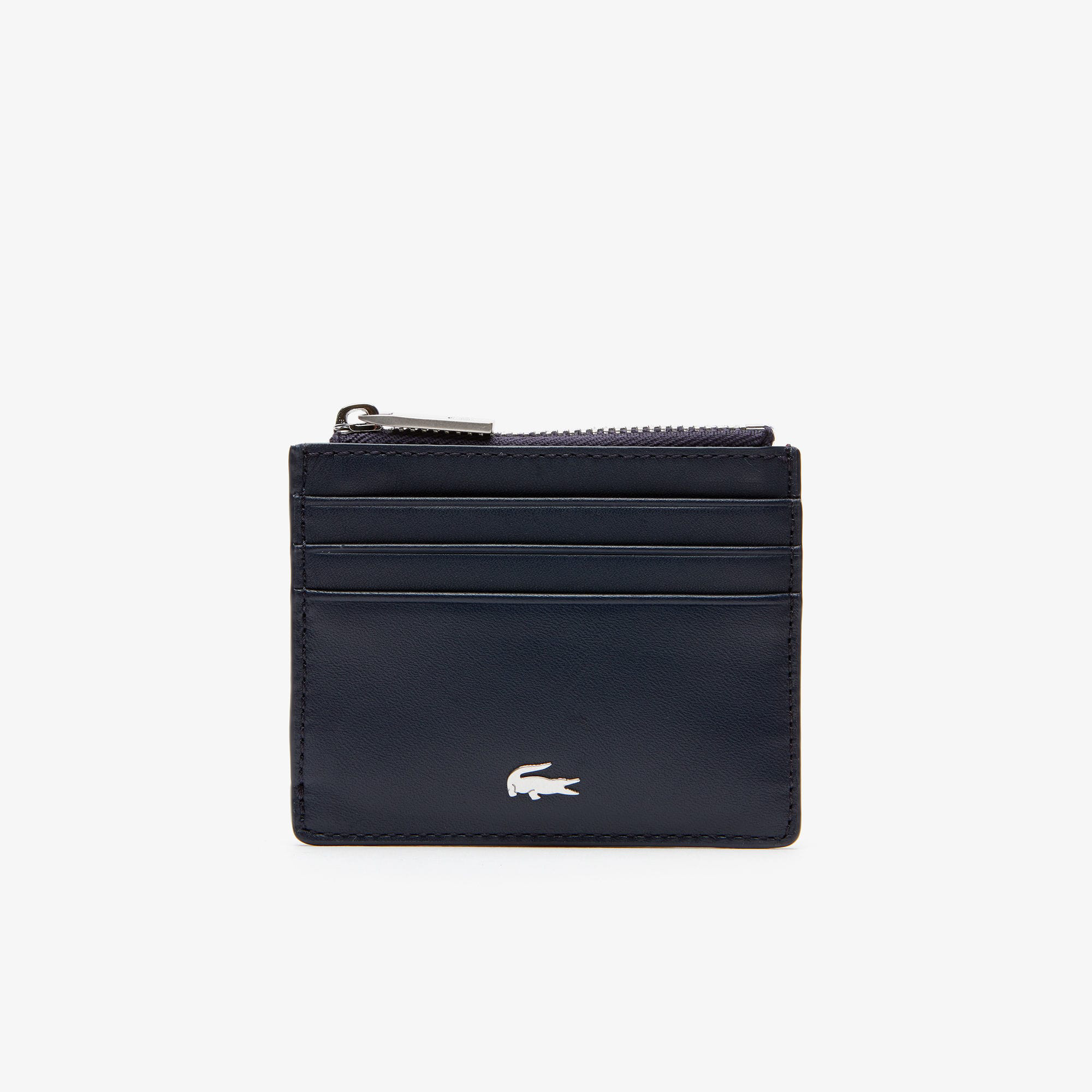 b2c514aa78 Lacoste Men's Fitzgerald Leather Card Holder In Peacoat Henna Marshmallow