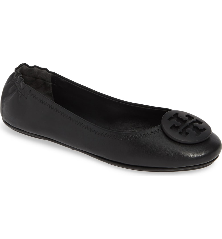 f2591ee0a057c Tory Burch  Minnie  Travel Ballet Flat In Perfect Black