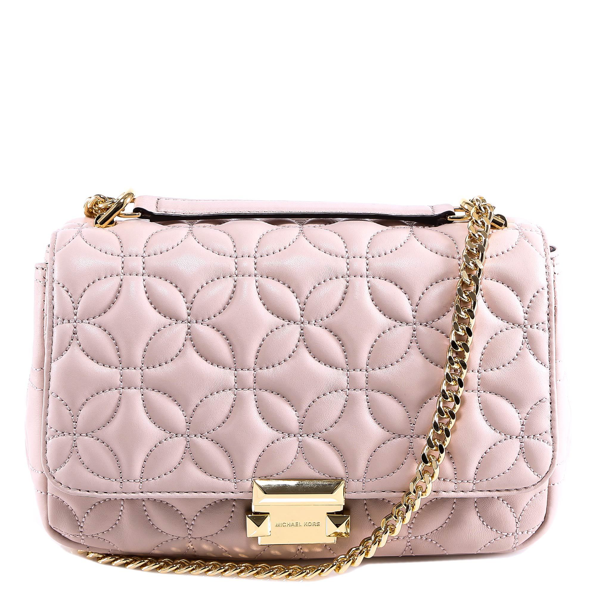 4b882dd02c6bf Michael Michael Kors Quilted Shoulder Bag In Pink. CETTIRE