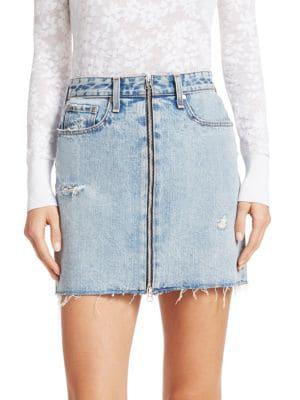 2fb827f1e Rag & Bone Anna Zip Distressed Denim Mini Skirt In Mandy   ModeSens