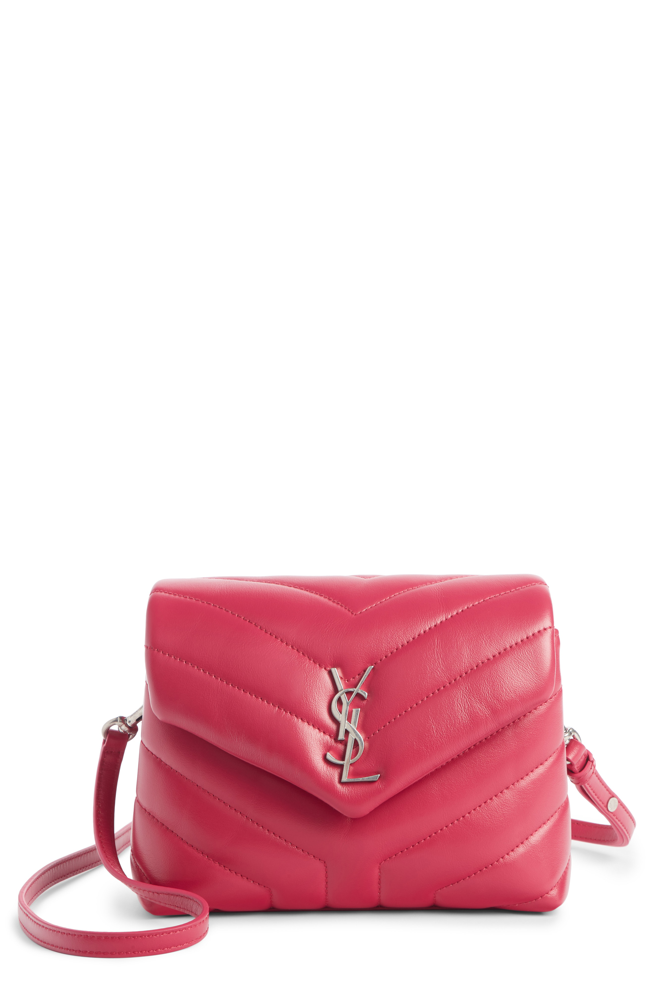 4fbc3a444d7b2 Saint Laurent Toy Loulou Calfskin Leather Crossbody Bag - Pink In Freesia