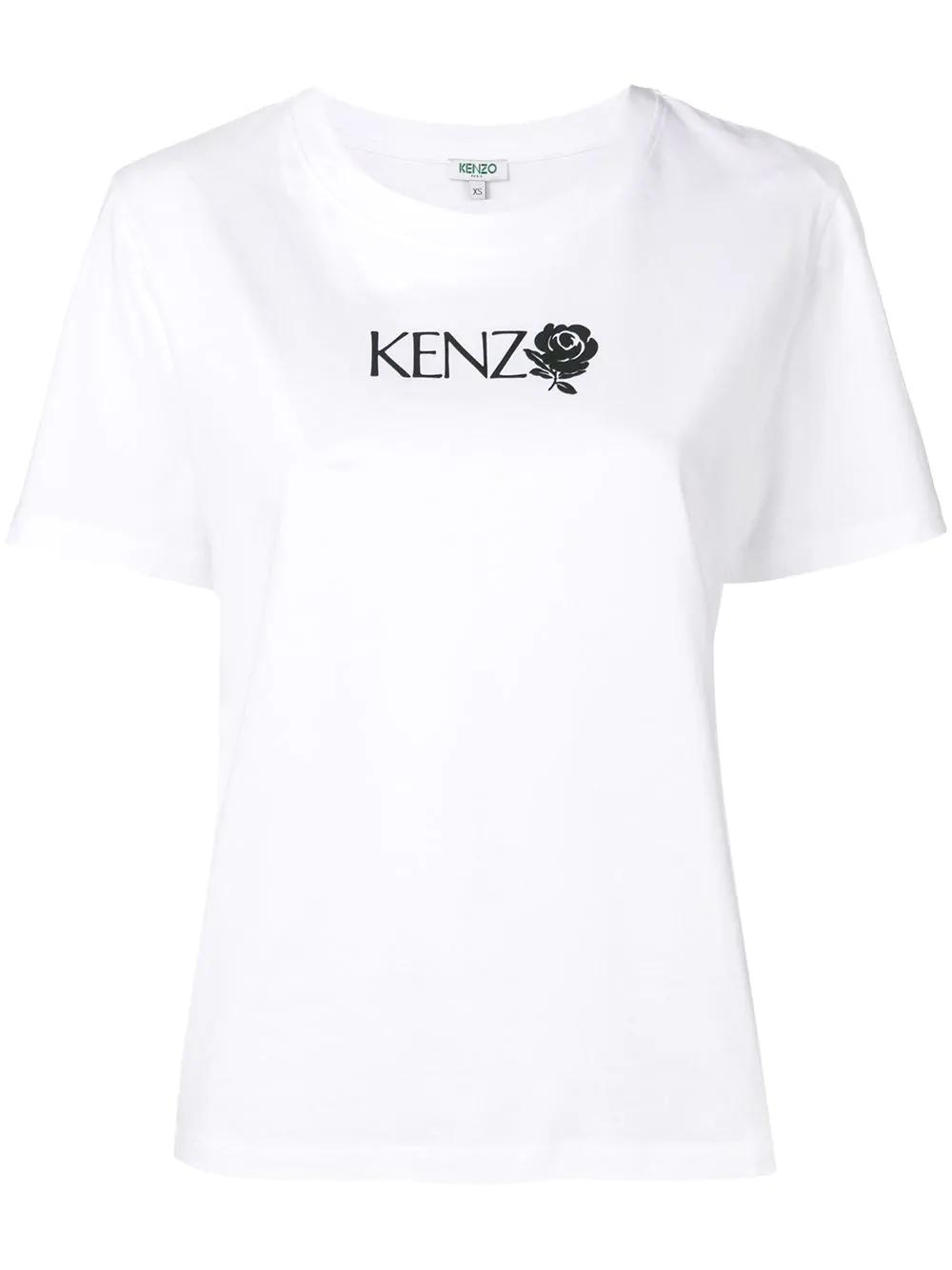 d89eddf31 Kenzo Logo Print T-Shirt - White | ModeSens