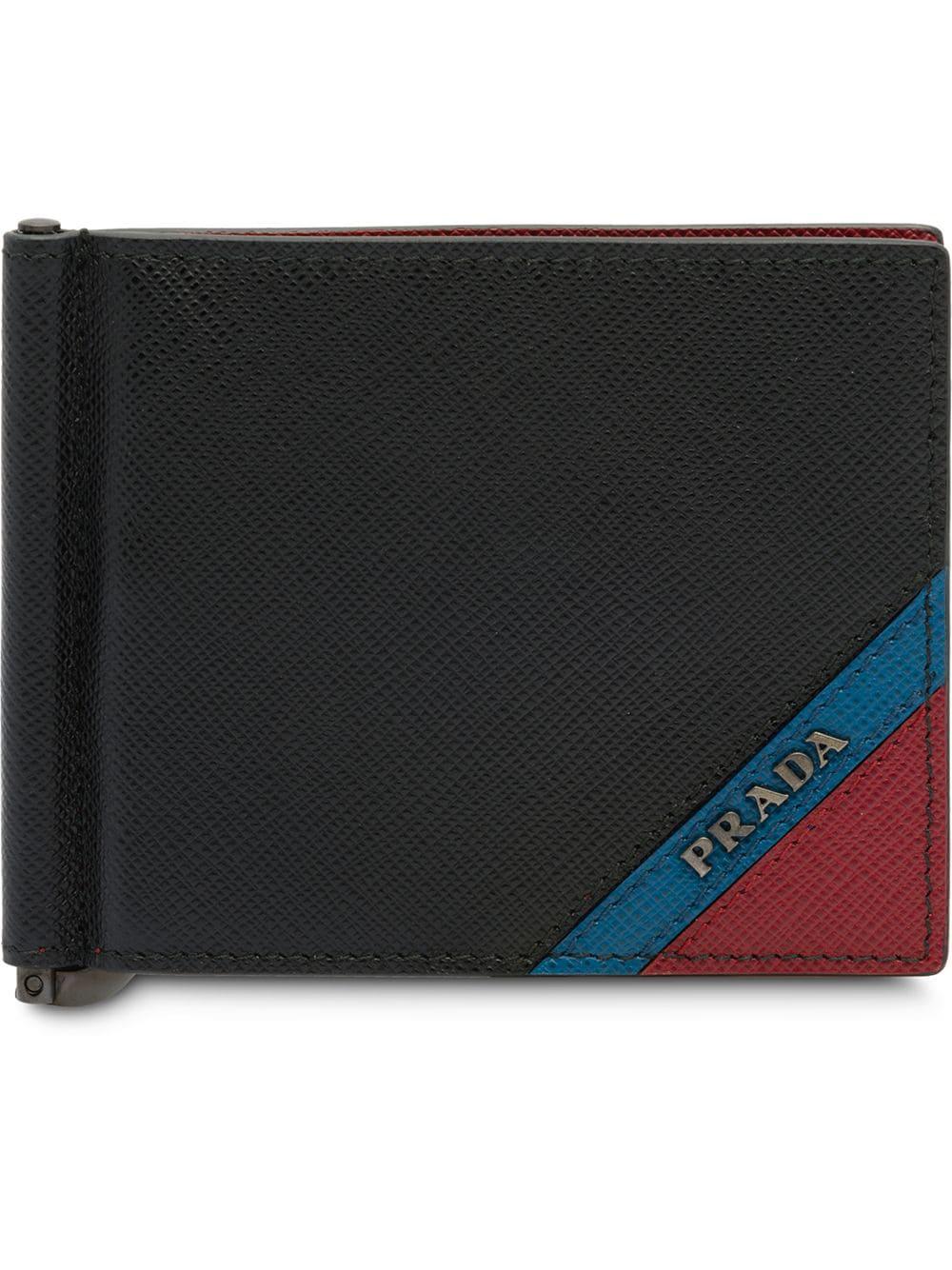 5deedb7bd970 Prada Saffiano Leather Bifold Wallet - Black | ModeSens