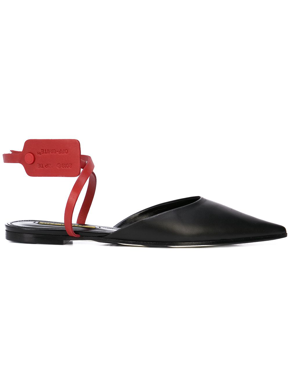 351e2fa1726d Off-White Off White   Zip Tie Slippers In Black Leather   ModeSens