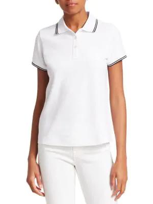 70f57ed3 Moncler Short-Sleeve Polo Shirt In White | ModeSens