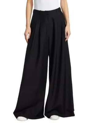 Zimmermann Crepe Wide Leg Pants In Black