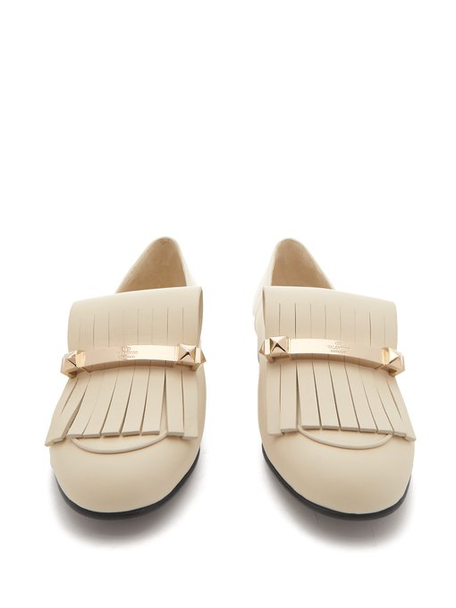 VALENTINO Uptown fringed leather loafers