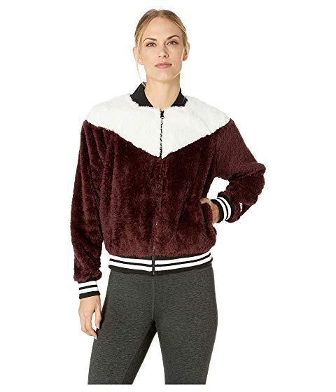 d36f032e1 Nike Sportswear Jacket Bomber Wolf, Burgundy Crush/Desert Sand/White