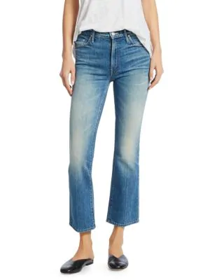 4347e264 Mother Insider Ankle Crop Bootcut Jeans In Sacred | ModeSens