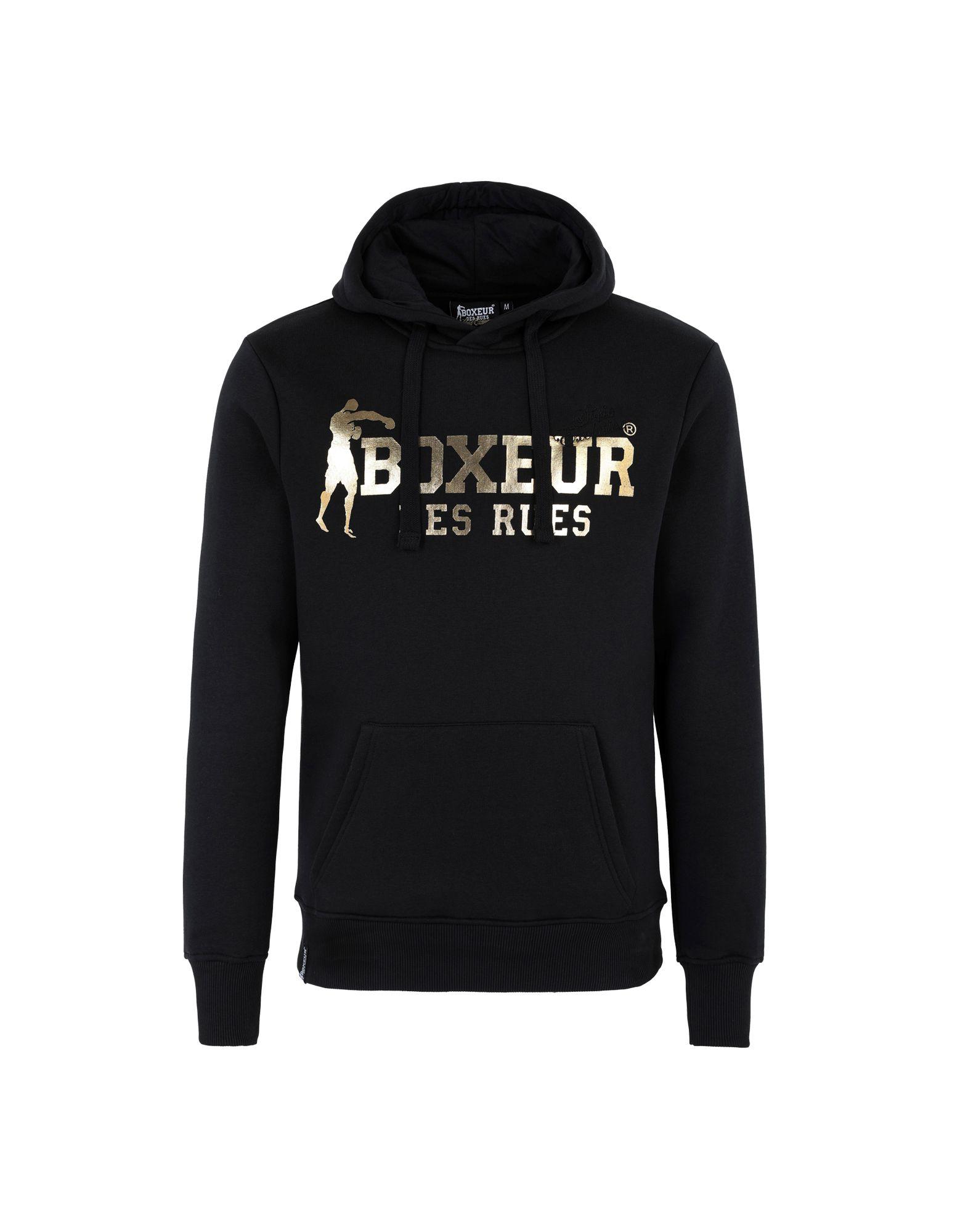 Black T-Shirt with Raglan Sleeves Man Boxeur Des Rues