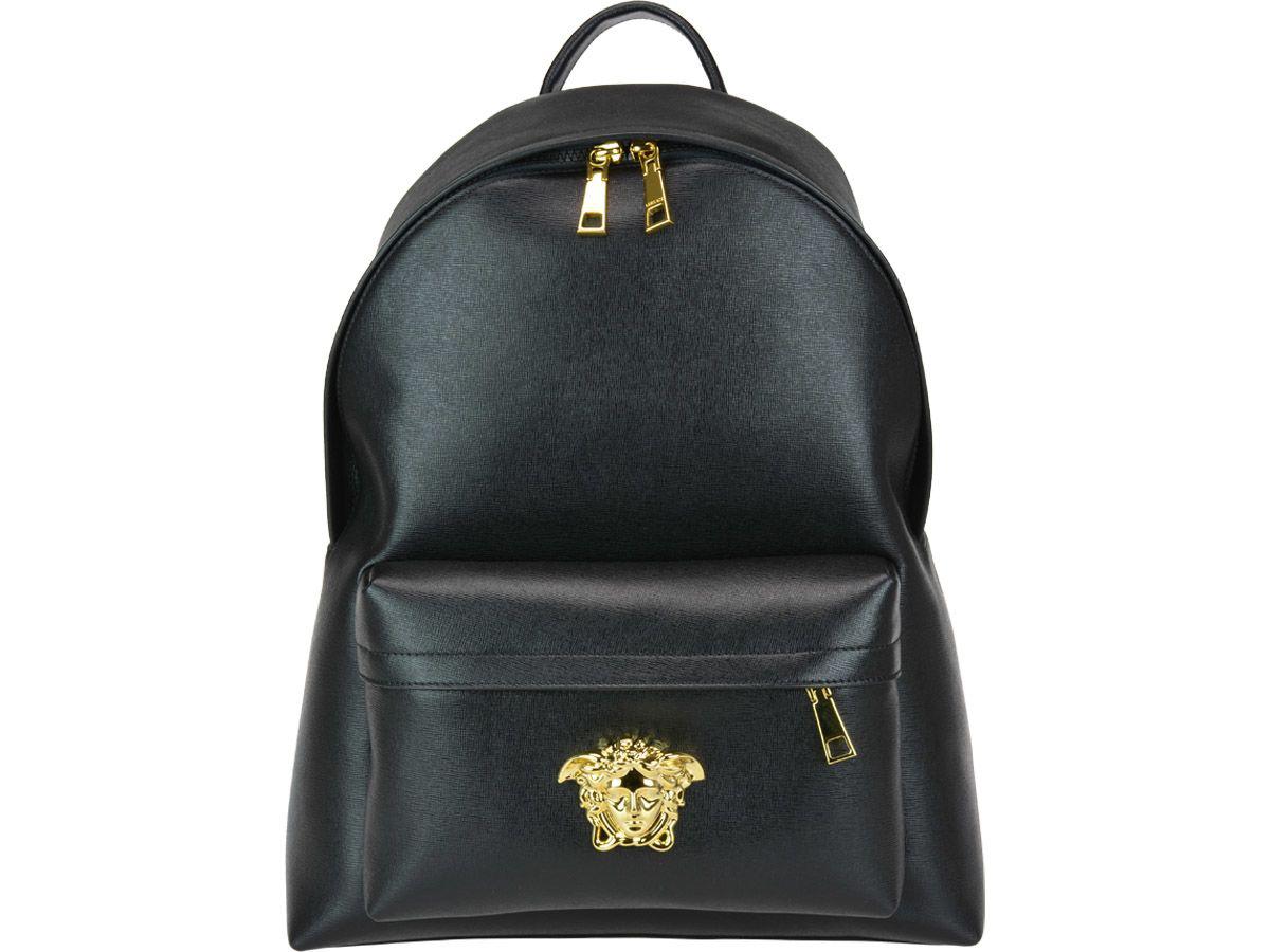 2999ce83b9 Versace Men s Leather Medusa Backpack In Black