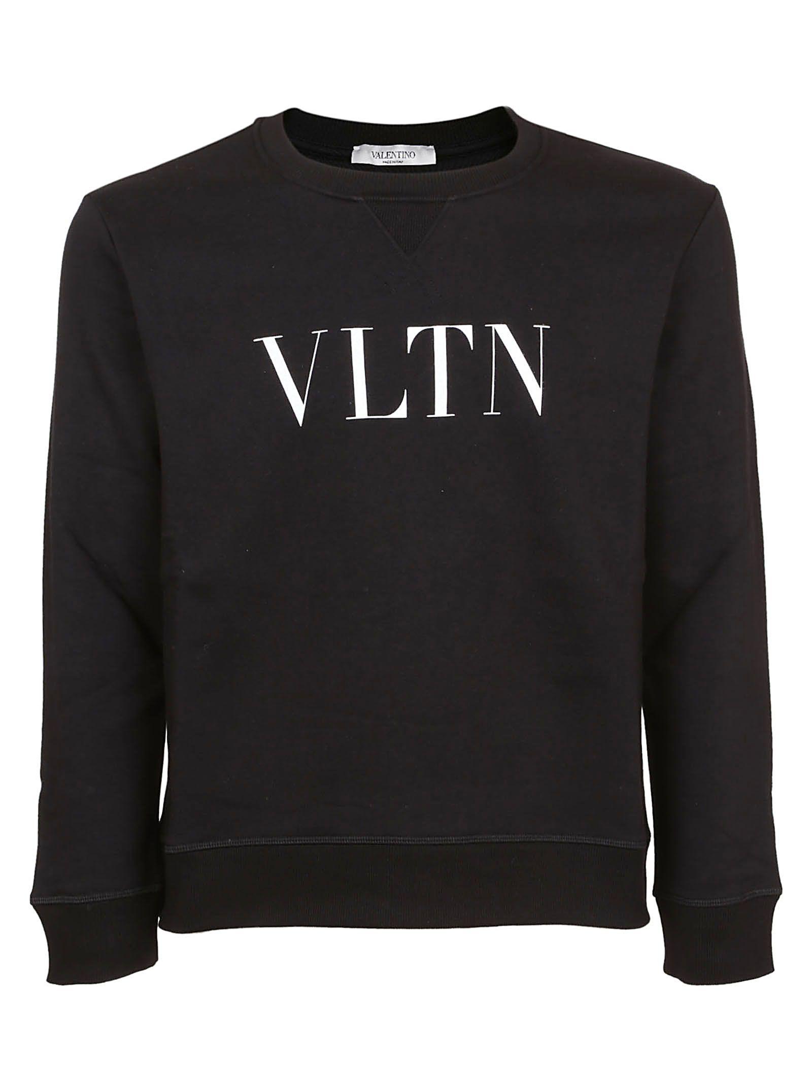 50c334db07629 Valentino Black And White Vltn Sweatshirt In Cotton | ModeSens