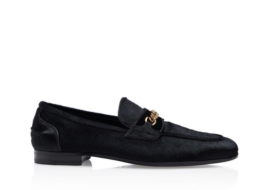 3e8159ce72407 Tom Ford Wilton Chain Loafers In Black | ModeSens