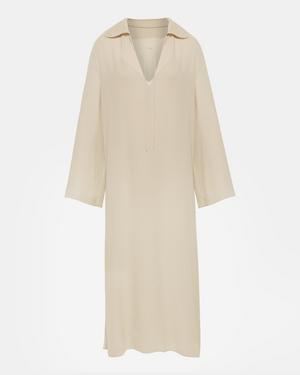 1034dcf3320f8 Theory Silk Crepe Sailor Caftan In Pale Oat