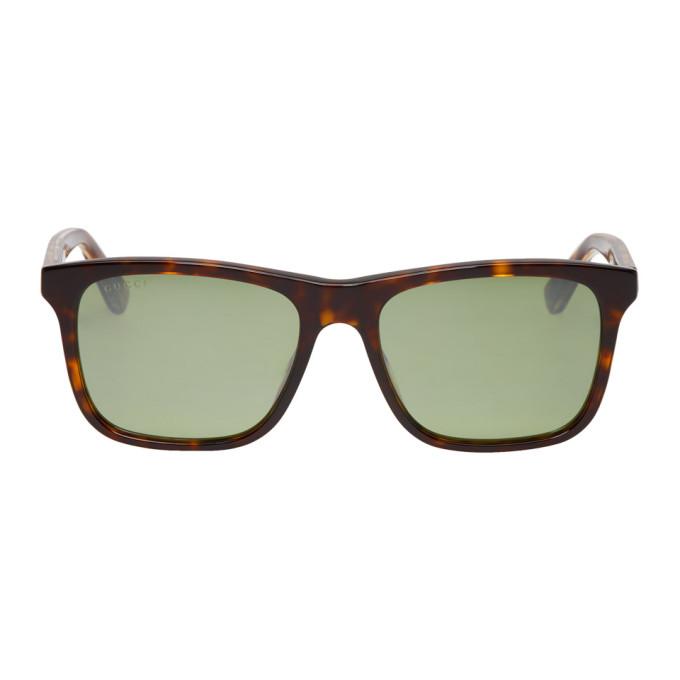 0fedb814ac5 Gucci Tortoiseshell Rectangular Sunglasses In 003 Drkhava