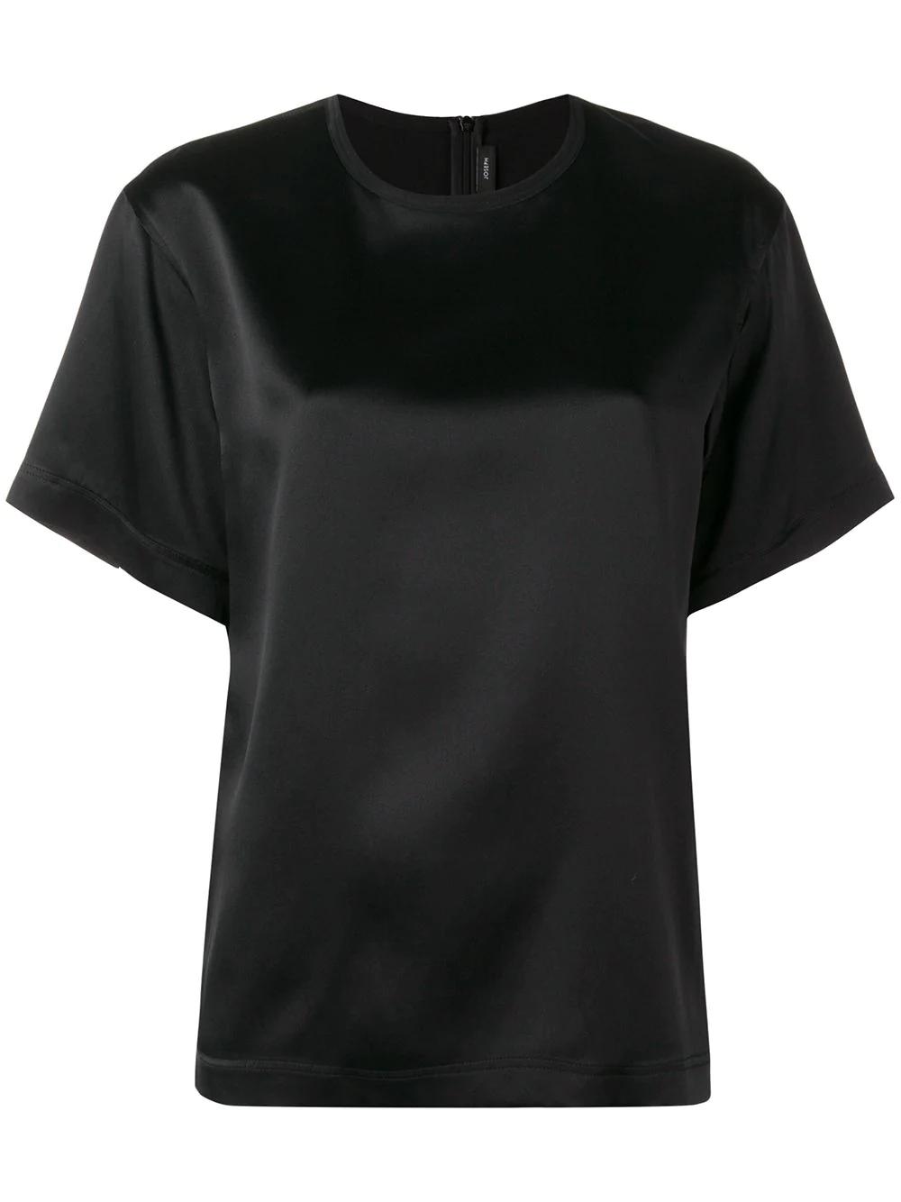 c15f6aa2eb2b Joseph T-Shirt Aus Satin - Schwarz In Black | ModeSens