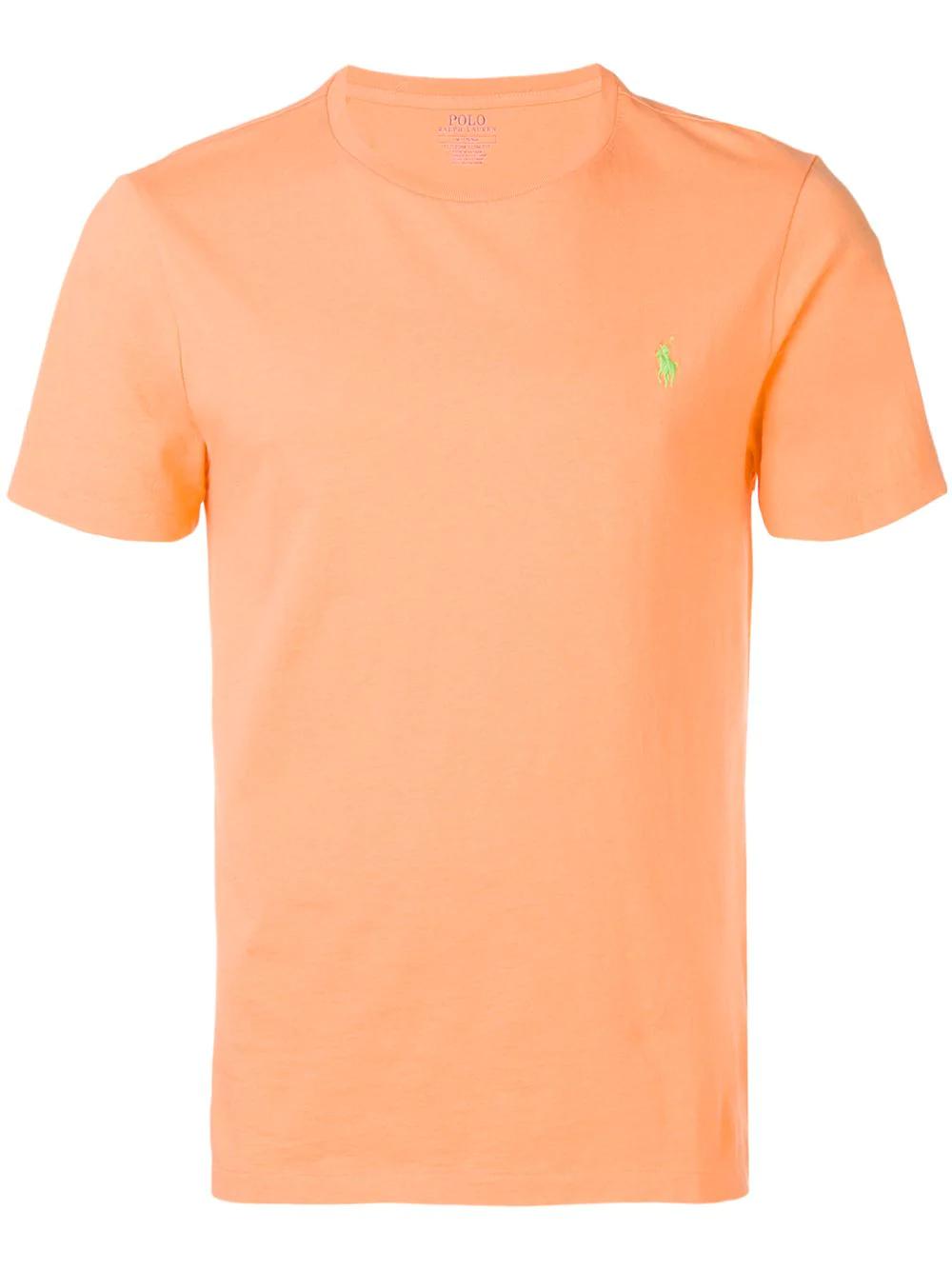 2d3e15af563 Polo Ralph Lauren Logo Embroidered T-Shirt - Orange