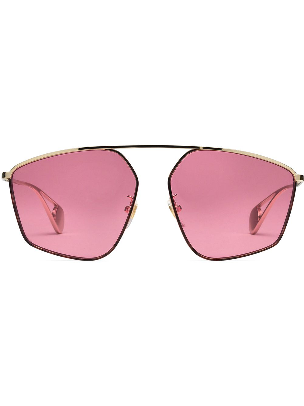 a9dcfbf4784 Gucci Eyewear Specialized Fit Square-Frame Sunglasses - Gold