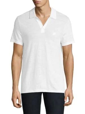 2793923484 Vilebrequin Pyramid Linen Polo Shirt In White | ModeSens