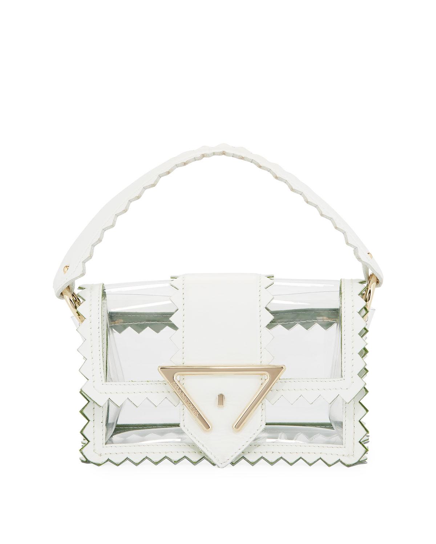 78778b8faaea Sara Battaglia Helen Mini Pvc Shoulder Bag In White