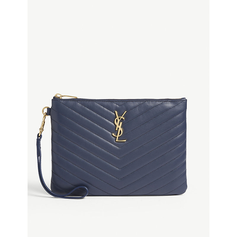 480926473d Saint Laurent Monogram Ysl Quilted Wristlet Pouch Bag