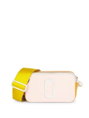 49e34388f5f Marc Jacobs Snapshot Ceramic Coated Leather Camera Bag In Blush ...
