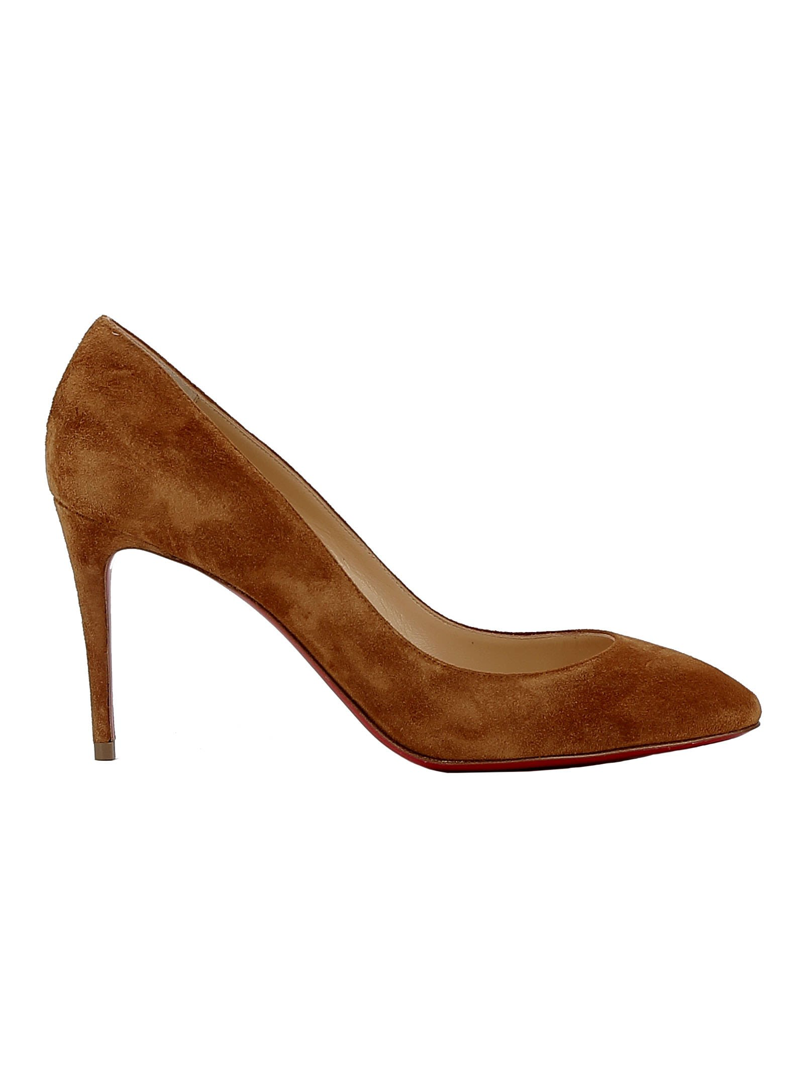 Christian Louboutin Decollete 85 Tan Suede Pumps In Brown