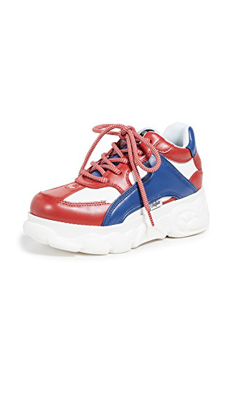 f83db6cdb Buffalo London Colby Sneakers In Red Blue White