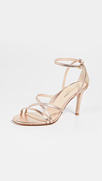 8d5317cac02 Marion Parke Lillian Strappy Sandals In Rose Gold