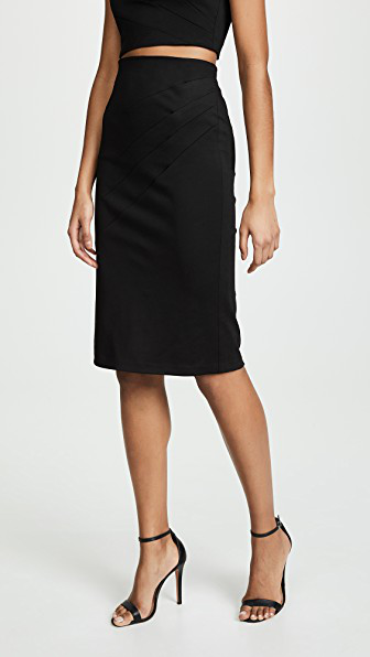 d07abdb05 Alice And Olivia Lavana Pleated Pencil Skirt In Black   ModeSens