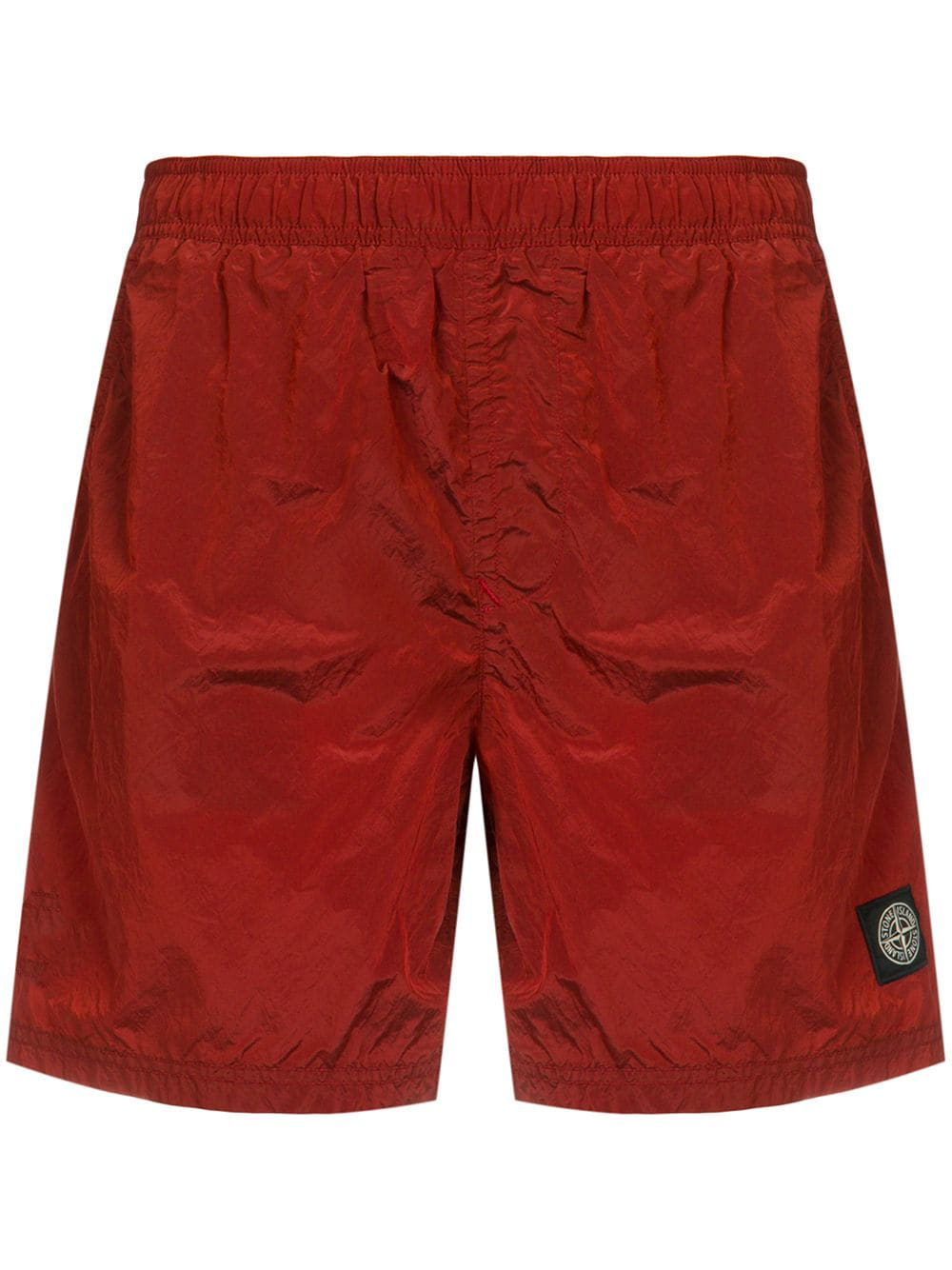 07013ca168 Stone Island Logo Patch Swim Shorts - Red | ModeSens