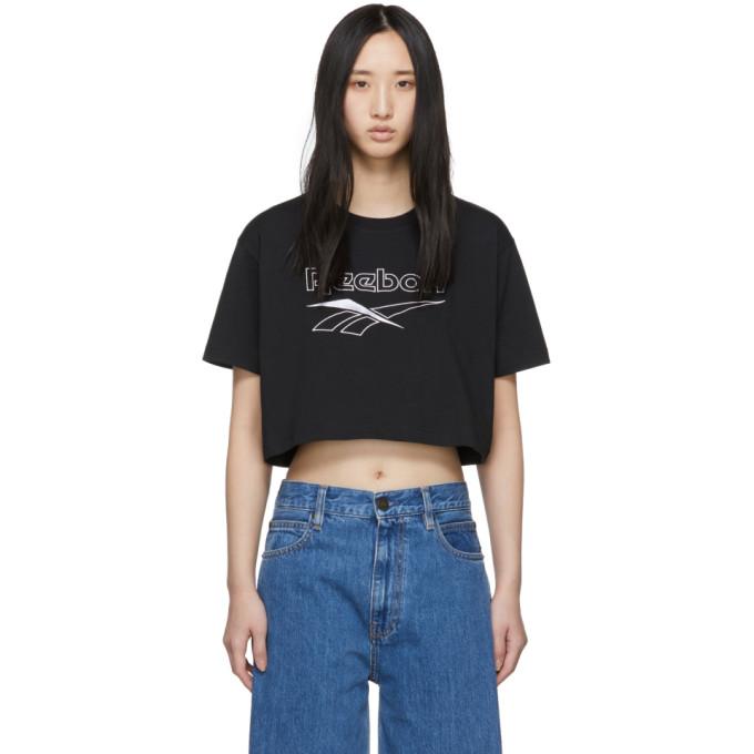 54326f4871241d Reebok Classics Black Crop Classic T-Shirt