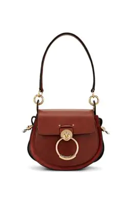 cf761de329a ChloÉ Tess Small Leather Suede Camera Crossbody Bag In Brown
