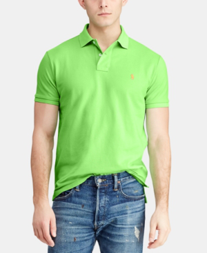 1d056bc1 Men's Custom Slim Fit Mesh Polo in New Lime