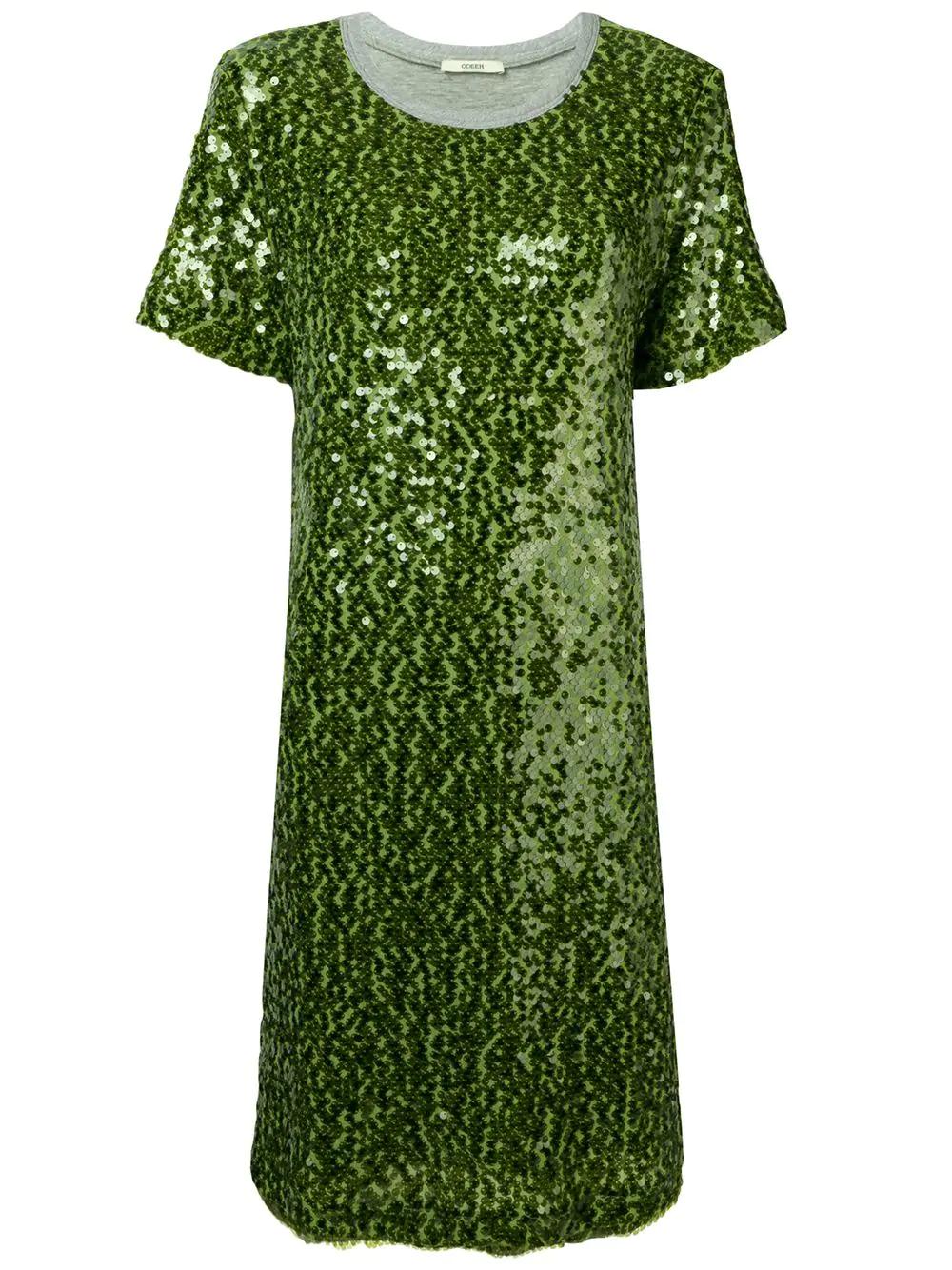 T shirt kleid grun
