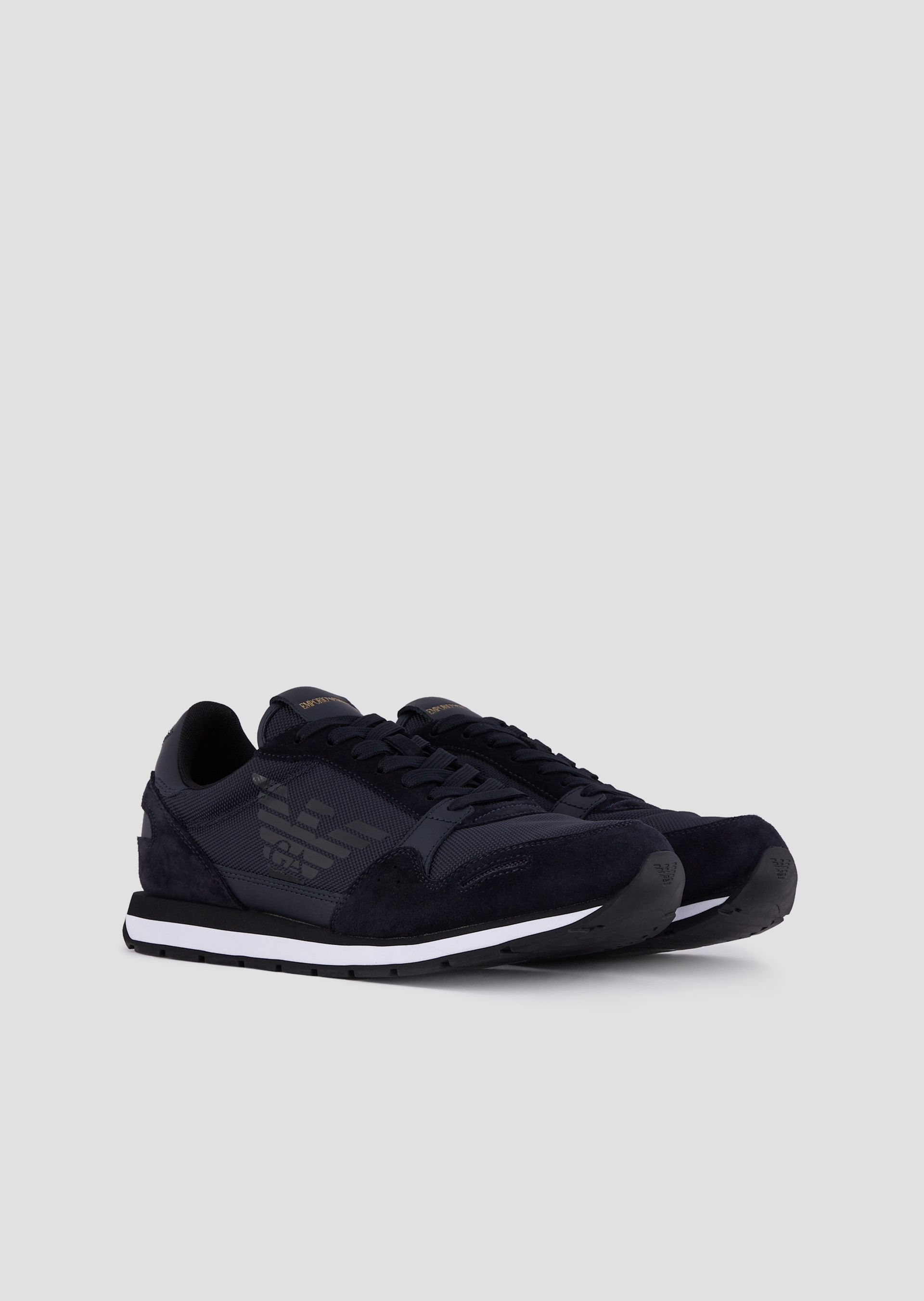 2635bd8fc Emporio Armani Sneakers - Item 11648998 In Navy Blue | ModeSens