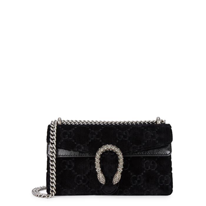 d521fe13363422 Gucci Dionysus Small Velvet Gg Supreme Shoulder Bag, Black   ModeSens