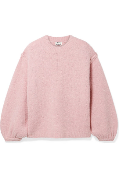 d3ae55b4 Acne Studios Oversized Dramatic Sweater In Pink In Pastel Pink ...