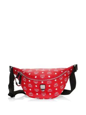 43861504624ca Mcm Viva Red Fursten Medium Belt Bag W/White Logo Visetos | ModeSens